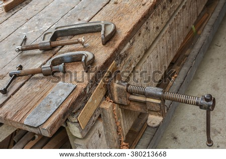 Clamps for carpentry work