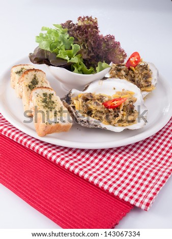 clams salad - stock photo