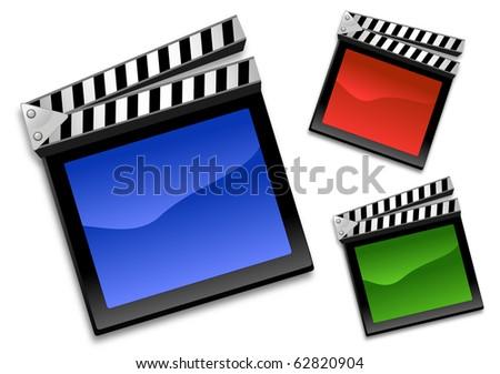 Clapboard icon - stock photo