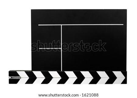 Clapboard w/ Path - stock photo