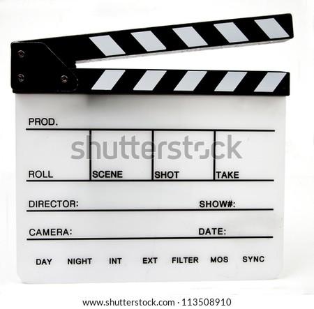 Clapper board/slate empty - stock photo