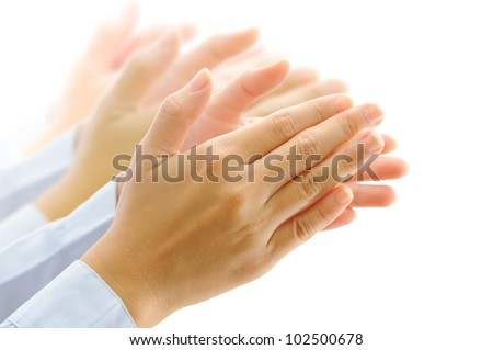 clapping hands - stock photo
