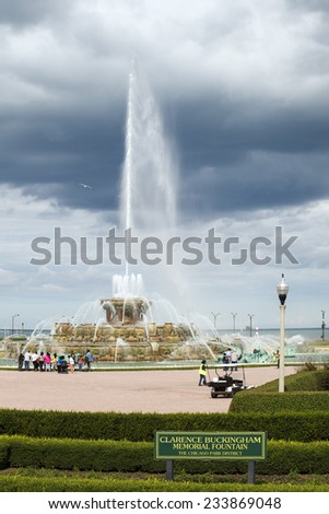 Clarence Buckingham Memorial Fountain at The Chicago Park district - stock photo