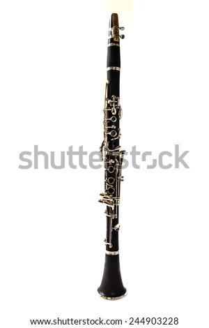 Clarinet isolated on a white background - stock photo