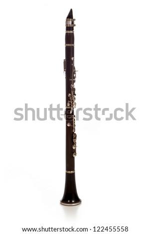 Clarinet isolated on white background - stock photo