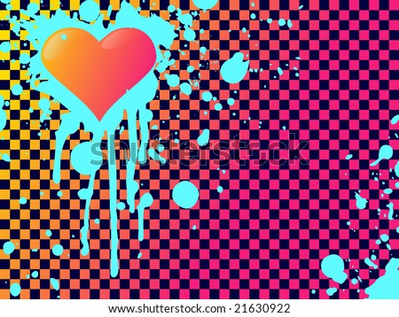 clashing colors emo heart background(JPG); a vector version is also available