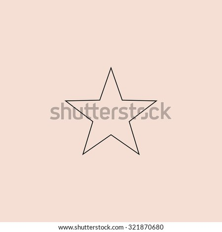 Clasic star flat outline icon on stock illustration 345183935 clasic star outline icon simple flat pictogram on pink background sciox Images