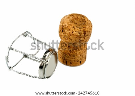 clasp and champagne corks photo icon for celebrations, enjoyment and alcohol consumption - stock photo