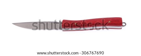 Clasp knife isolated on a white background.