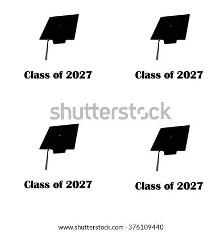 Class of 2027 Black on White Pattern Large