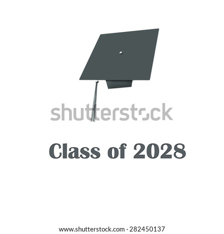 Class of 2028 Grey on White Single Large