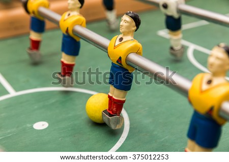 Classic aged Foosball table high resolution