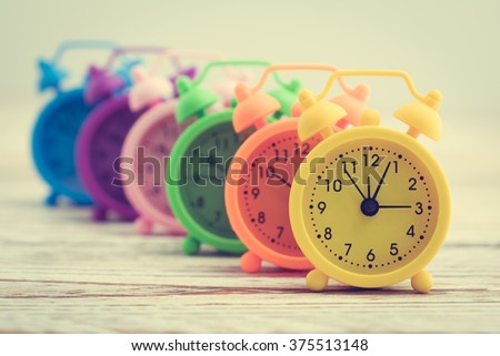 Classic Alarm Clock - Vintage filter processing style