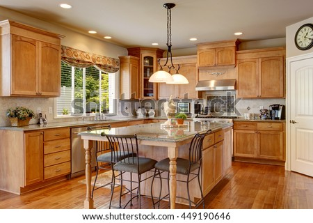 american classics kitchen cabinets classic american kitchen inerior brown cabinets stock 10557