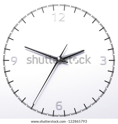 Classic analog clock isolated on a white background
