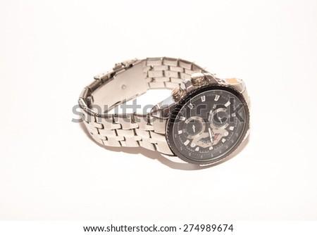 Classic Analog Men's Wrist Watch - stock photo