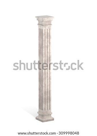 Classic Ancient Square Column - stock photo