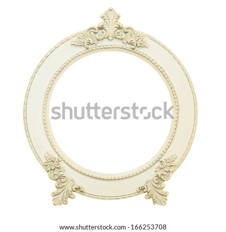 Classic and Vintage frame isolated on white background - stock photo