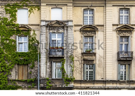 Classic architectural detail in Belgrade, the Serbian capital - stock photo