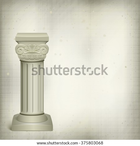 Architectural Background Coriphian Column Stock