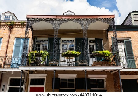 Classic architecture in the French Quarter in New Orleans, Louisiana.
