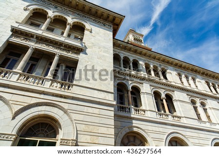 Classic architecture of the US Post Office and Courthouse in Savannah, Georgia. - stock photo