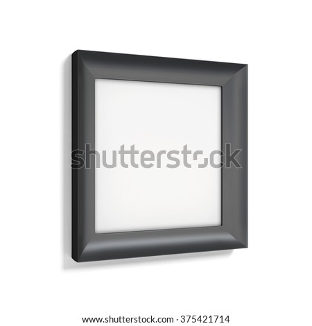 Classic black photo frame on white background. 3d rendering.