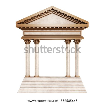Classic Bronze Arch On Stair. 3d rendering - stock photo