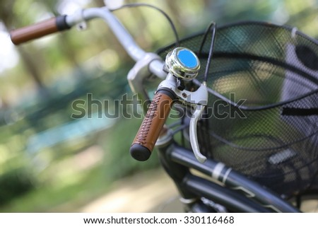 classic brown leather handle of vintage bicycle,Fragment of bicycle of the racing bike