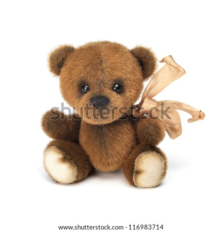 Classic brown teddy bear - stock photo