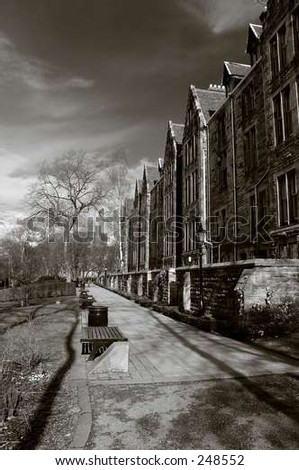Classic buildings - stock photo