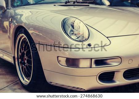 classic car. - stock photo