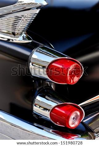 classic car rear lights - stock photo