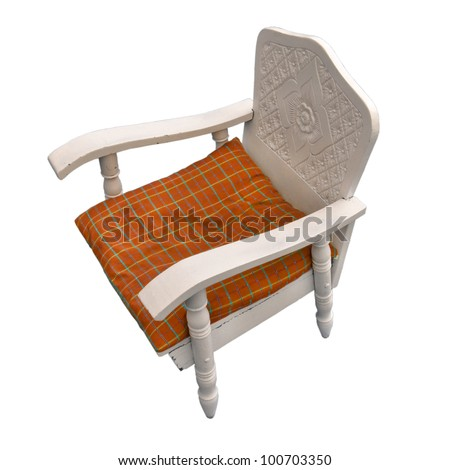 Classic chair on a white background