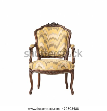 classic chair style isolated on white background
