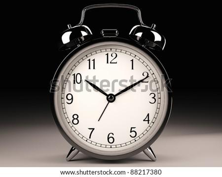 Classic clock (3d model) - stock photo