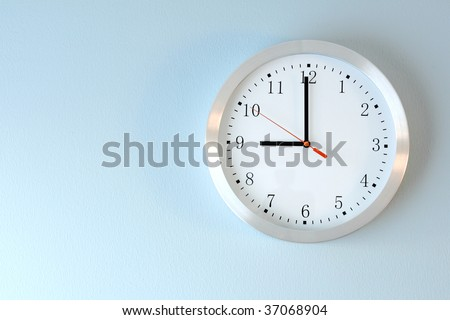 classic clock on the wall - stock photo