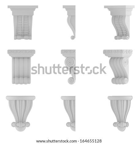 classic column. Ornamental elements - stock photo