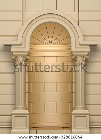 Classic Corinthian Arc - stock photo