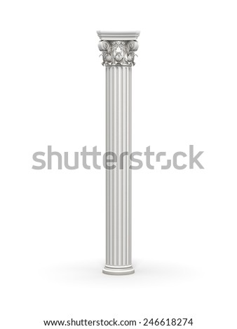Classic Corinthian Column - stock photo