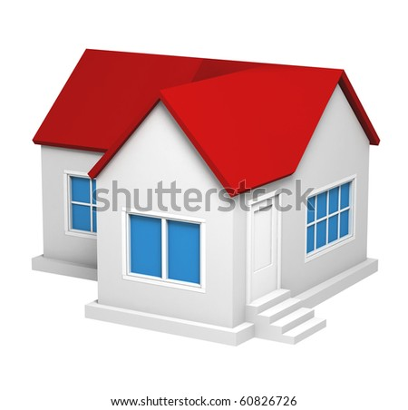 Classic Cottage with Red Roof