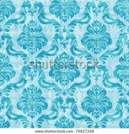 Classic damask floral seamless wallpaper - stock photo