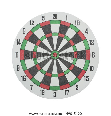 Classic Darts Board on a white background.
