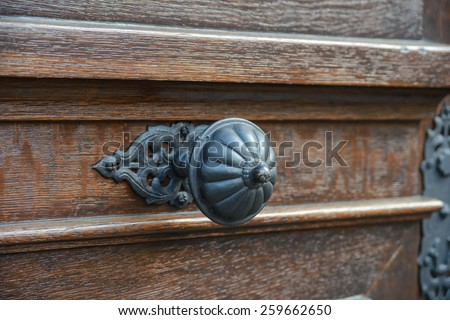 classic door handle - stock photo