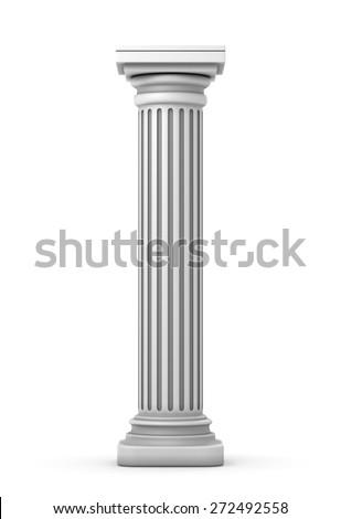 Classic Doric Column - stock photo