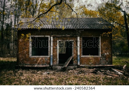 Classic evil  dead zombie house - stock photo