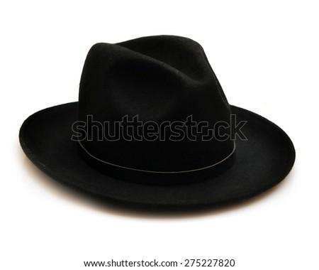 Classic fedora hat ladies isolated on white background - stock photo