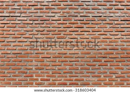 classic Floor brick red - stock photo
