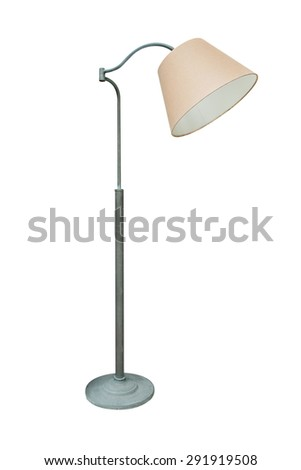 Classic floor lamp, isolated on white background.  - stock photo
