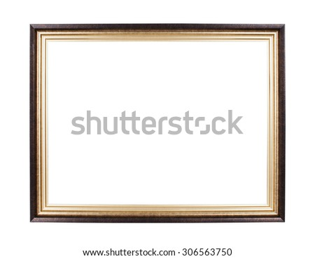 Classic frame isolated on white background - stock photo